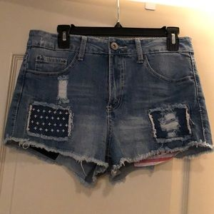 American Flag-Themed Shorts